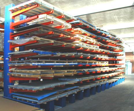 Rayonnages cantilevers – produits longs et lourds