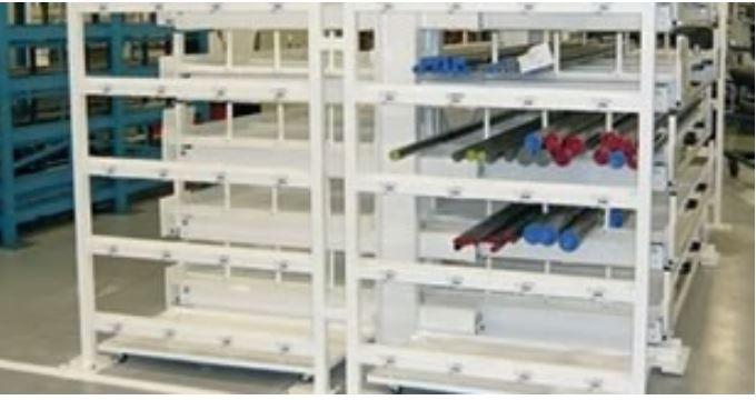 Optimiser le stockage de charges longues - Cantilevers à tiroirs