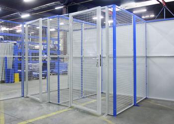 Portes pour fermer une allée de stockage