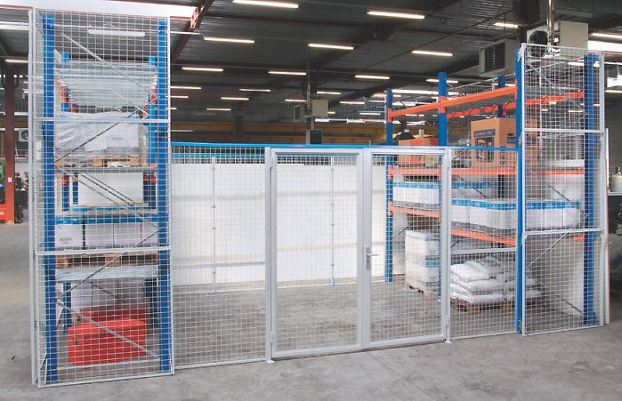 Porte Grillagée pour Allées de Rack - Equipements d'Entrepôts