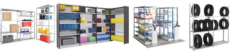 Différents types de matériel de stockage industriel