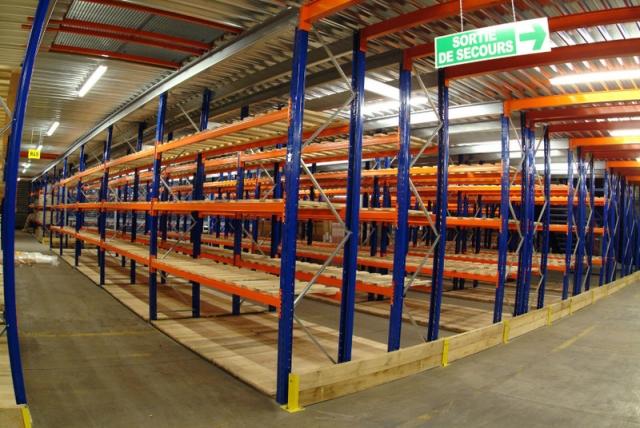 Mezzanines Industrielles de Stockage sur Rack