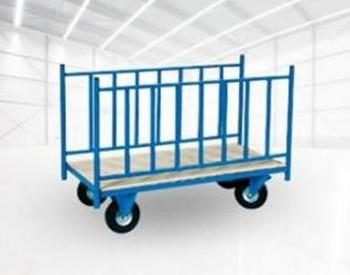 Chariot à ridelles latérales de manutention