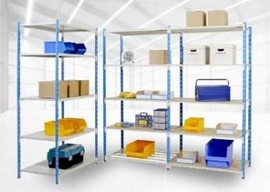 Rayonnages charges légères de stockage industriel