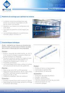 Mezzanines industrielles simples sur poteaux